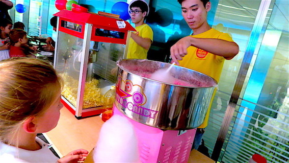 popcorn and candy floss for event