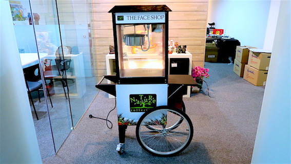 customised popcorn cart