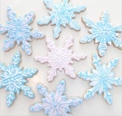 snowflake cookies kids birthday