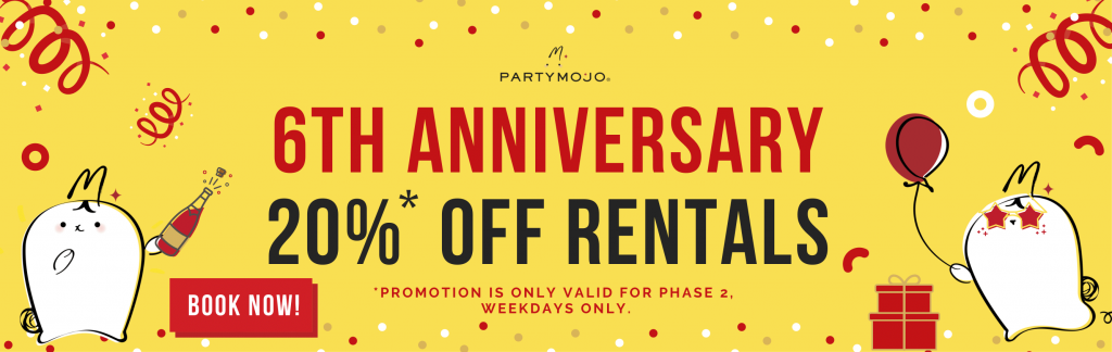20% anniversary promotion rental