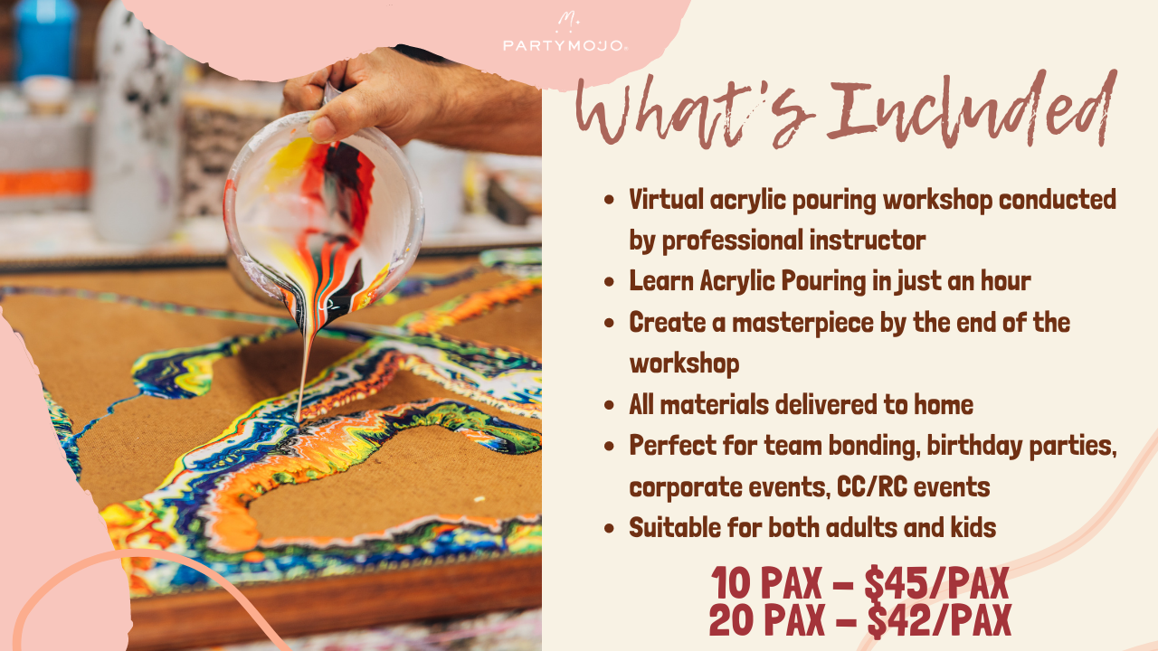 Virtual Acrylic Pour Workshop Inclusion
