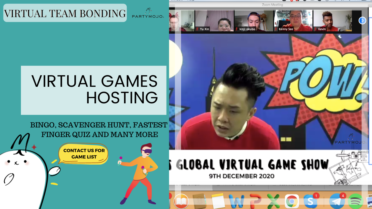 Virtual Games Night teambuilding