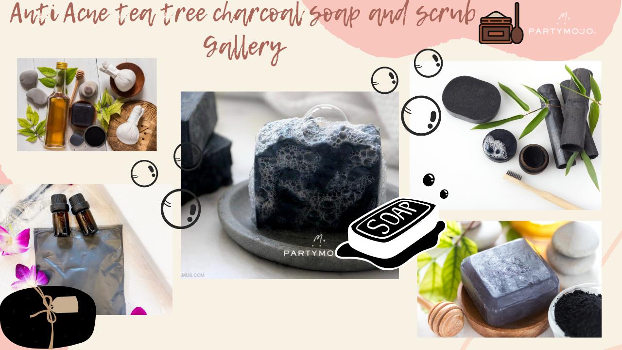 Virtual Anti Acne teatree charcoal soap and scrub making Workshop